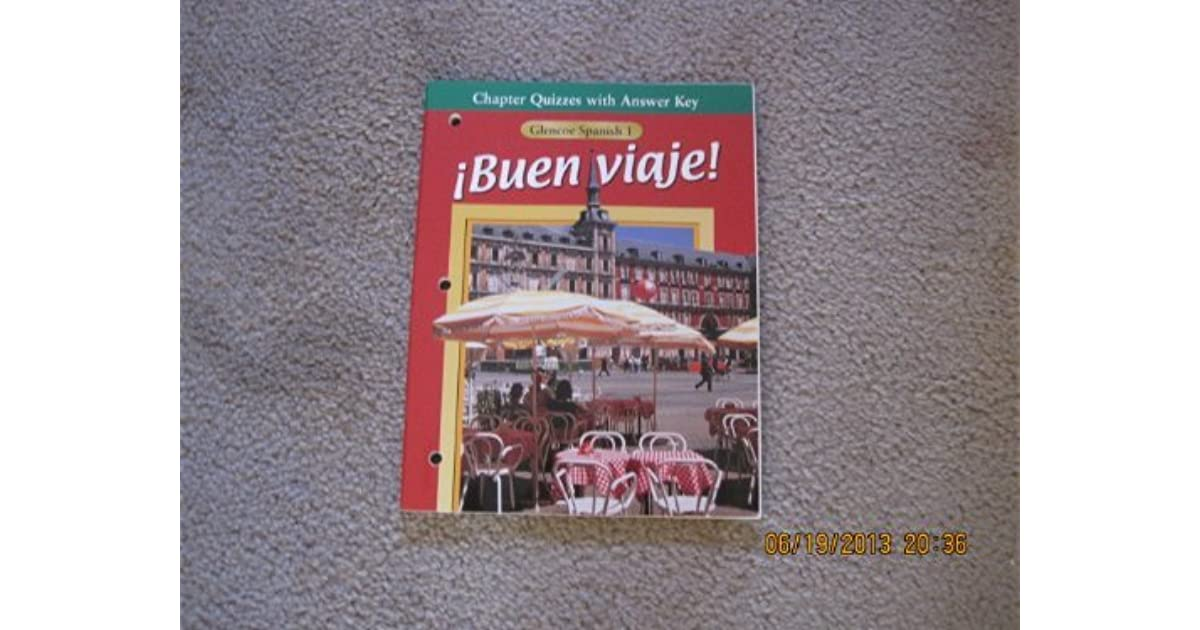 Chapter Quizzes With Answer Key Glencoe Spanish 1 Buen