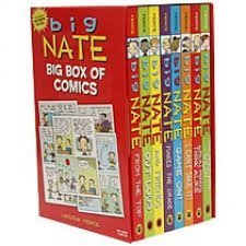 Big Nate Big Box of Comics (8 books set plus Big Nate poster)
