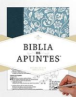 RVR 1960 Biblia de apuntes - Azul - Piel genuina y tela impresa