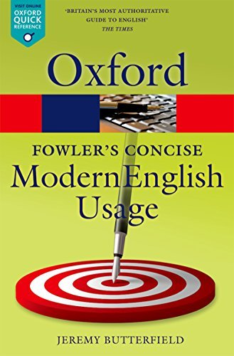 Oxford Fowler's modern English usage