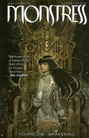 boo cover for Monstress Volume 1 Awakening