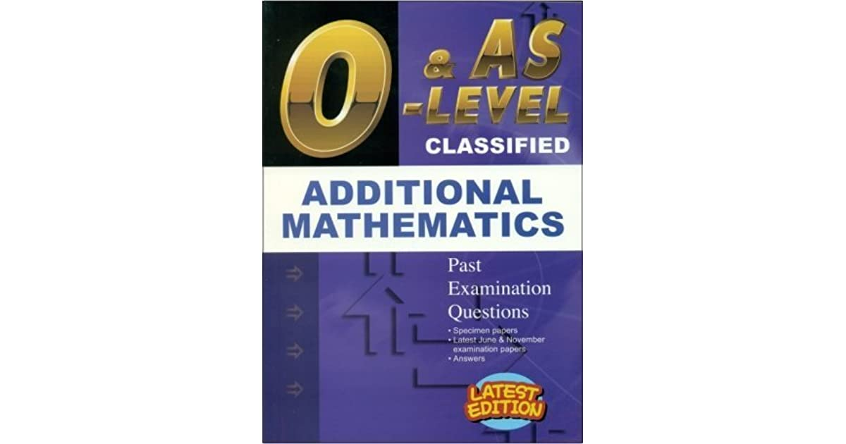 GCE O Level Classified Additional Mathematics - 1995 to 2014
