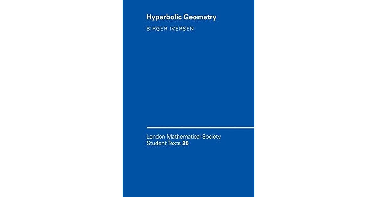 Hyperbolic Geometry by Birger Iversen