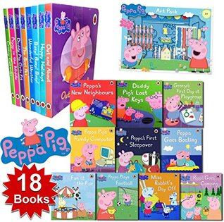 Peppa Pig Short Stories 18 Books Collection Set With Colouring Art Pack Children's Picture Books Early Readers
