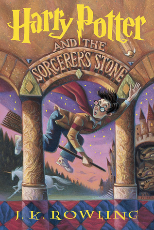 Book cover of Harry Potter and the Sorcerer's Stone by J. K. Rowling