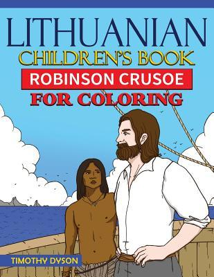 Lithuanian Children's Book: Robinson Crusoe for Coloring