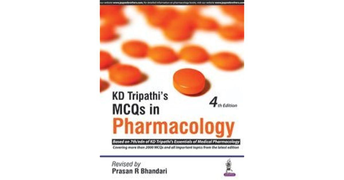 Kd Tripathi Pharmacology Book Pdf