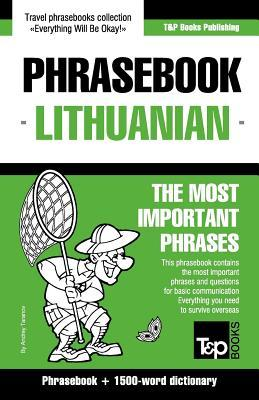 English-Lithuanian phrasebook & 1500-word dictionary