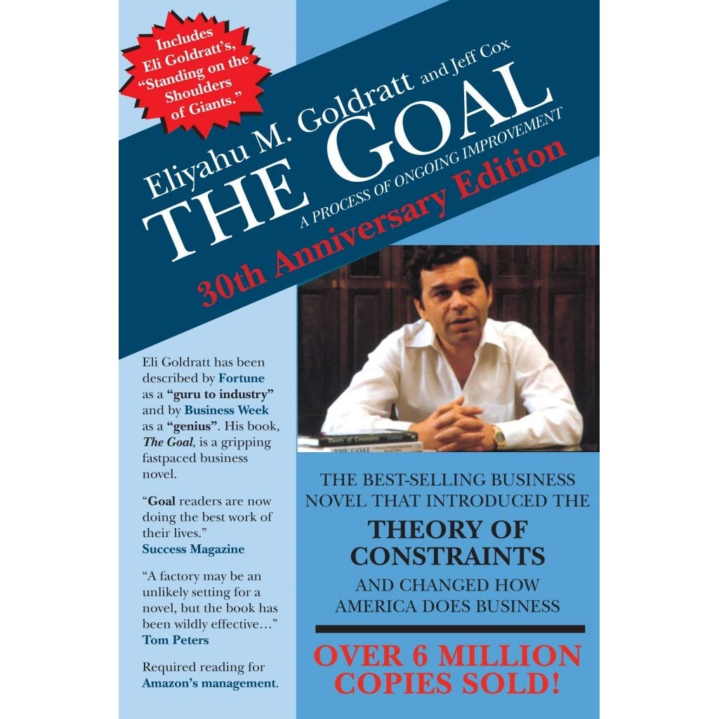 essay on the goal by goldratt The goal is a management-oriented novel by eliyahu m goldratt, a business consultant known for his theory of constraints, and jeff cox, a best selling author and co-author of multiple.