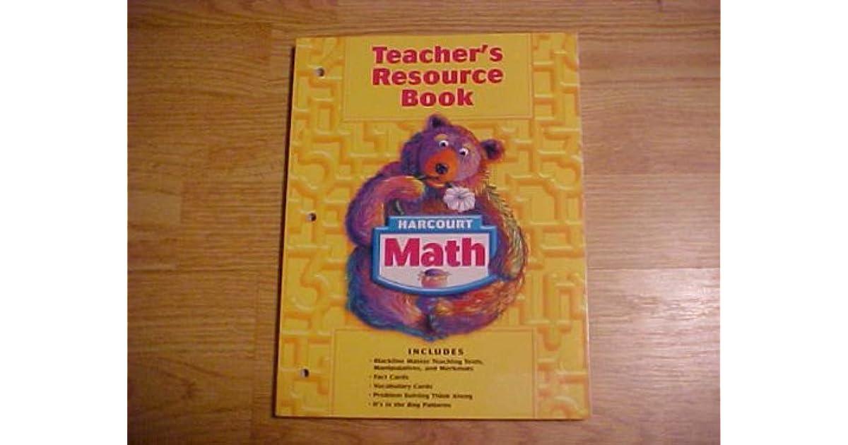 Harcourt Math Grade 1 Teacher S Resource Book By Harcourt