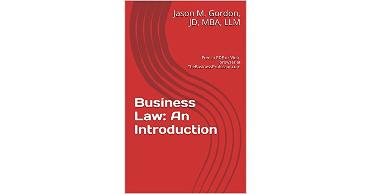 Introduction To Business Law Pdf