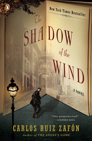 "Book cover of ""The Shadow of the Wind"" by Carlos Ruiz Zafon"