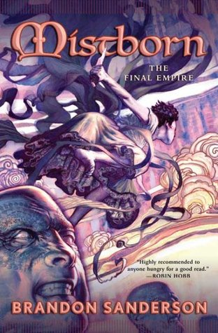 "Book cover of ""Mistborn: The Final Empire"" by Brandon Sanderson"