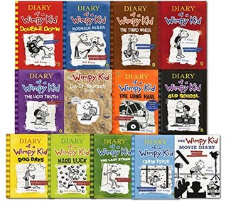 Diary Of A Wimpy Kid Collection 13 Books Set Double Down Old School Hard Luck Third