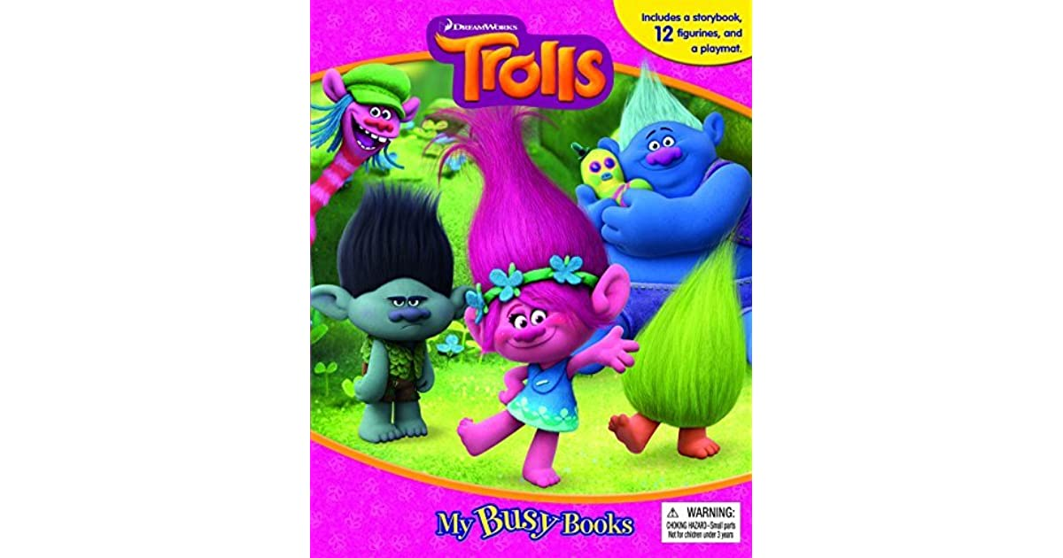 Trolls My Busy Book Includes 12 Figures Play Mat Brand New