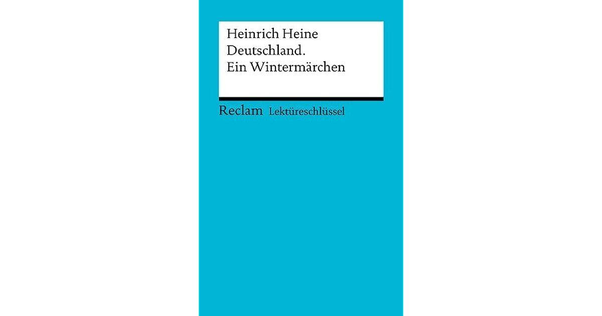 neue Produkte für günstig kaufen angenehmes Gefühl Lektüreschlüssel. Heinrich Heine: Deutschland. Ein ...