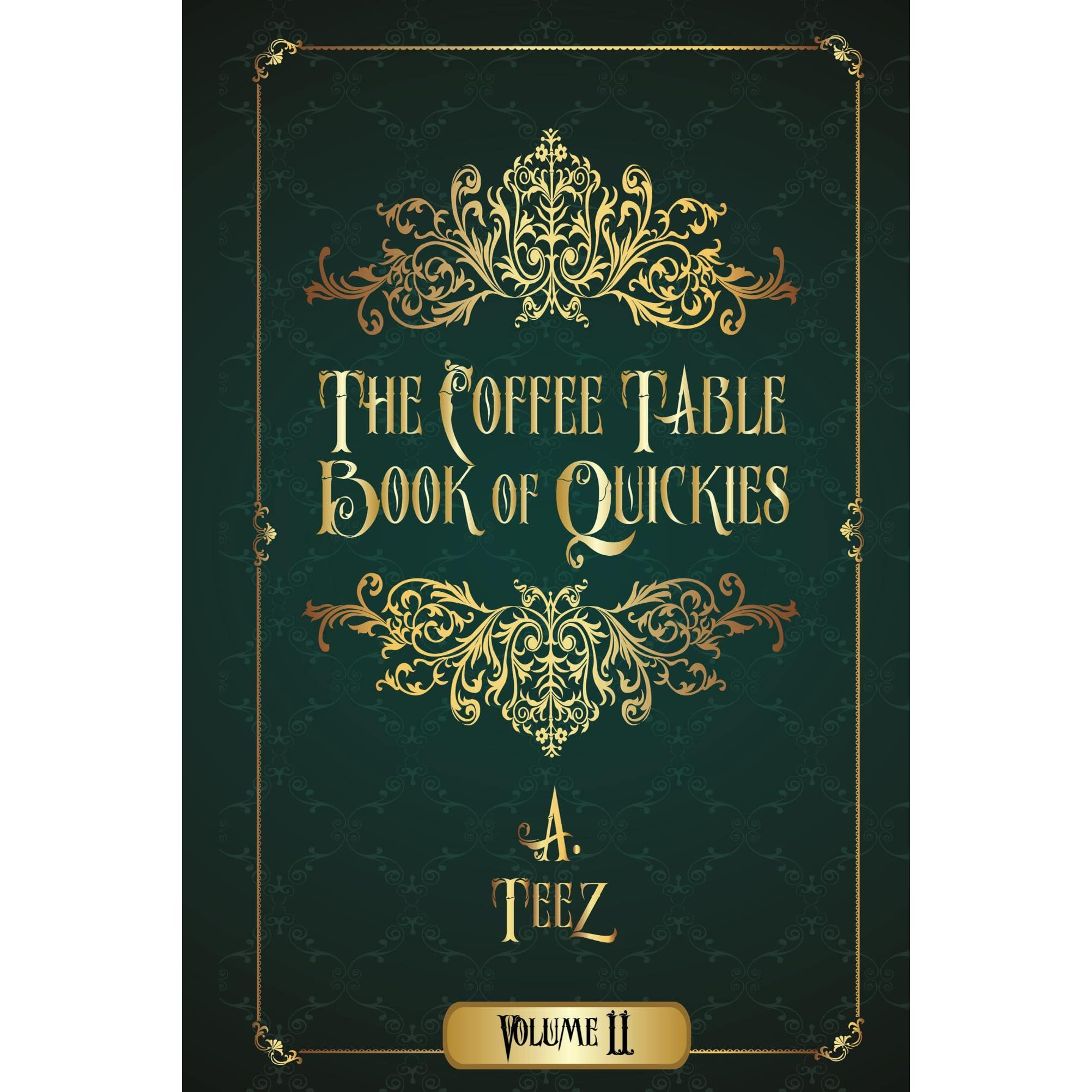 Book Giveaway For The Coffee Table Book Of Quickies Volume