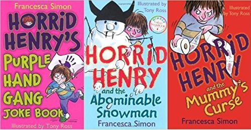 Horrid Henry 3 vol. collection (Horrid Henry and the Abominable Snowman, Purple Hand Gang Joke Book, Horrid Henry and the Mummy's Curse)
