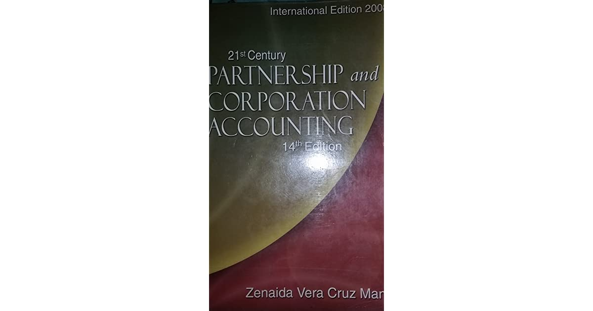 Partnership And Corporation Accounting Book