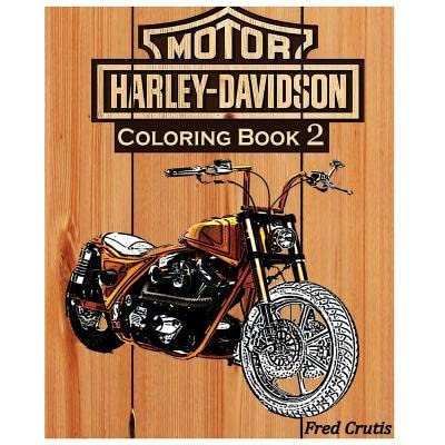 Motor: Harley-Davidson Coloring Book 2: Design Coloring Book By Fred Crutis