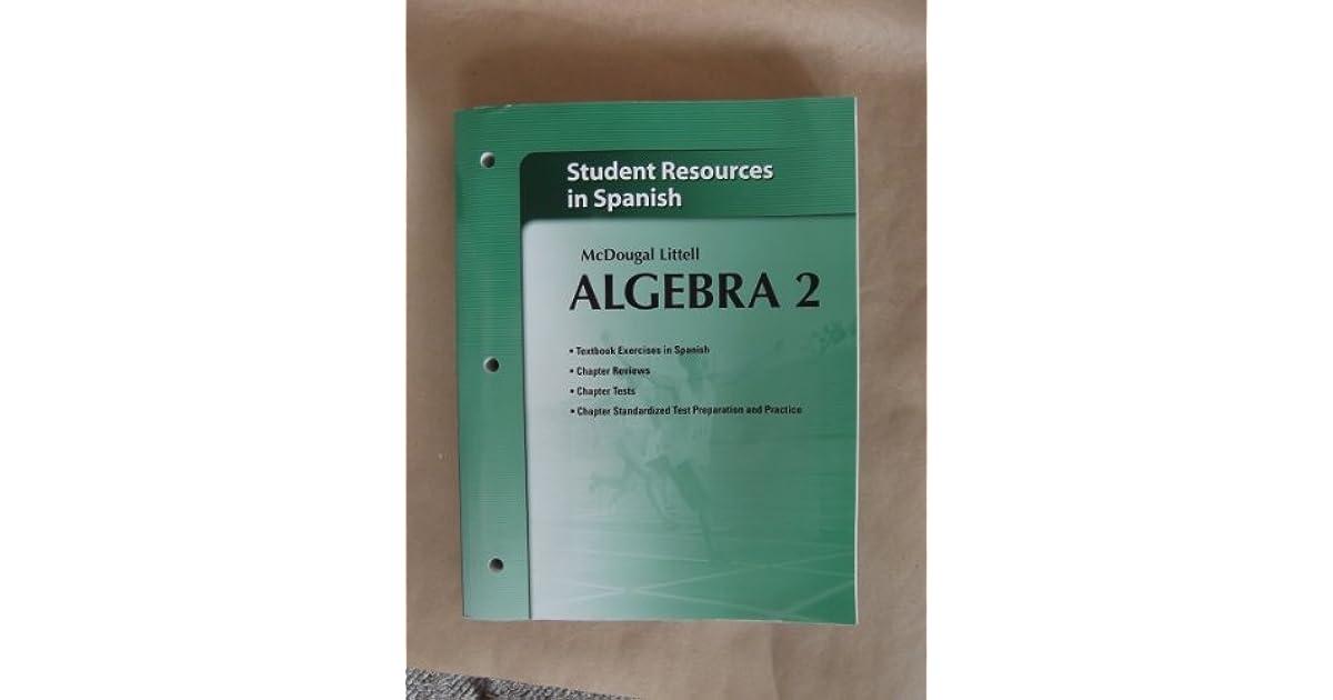 Holt McDougal Larson Algebra 2 Student Resources In Spanish