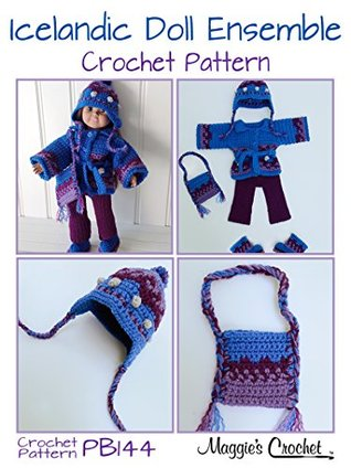 "Crochet Pattern 18"" Doll Icelandic Ensemble PB144"