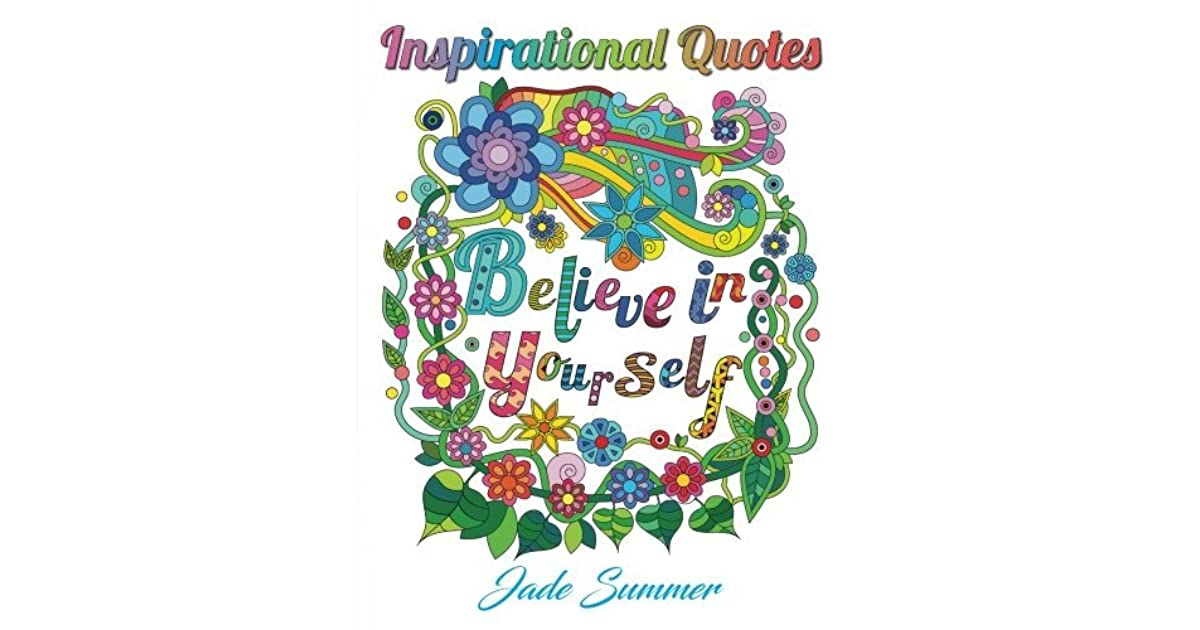 inspirational quotes an adult coloring book motivational