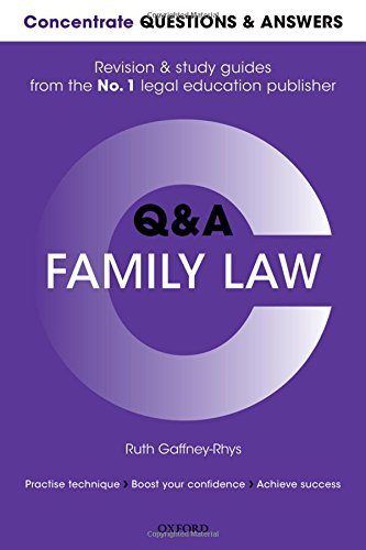 Concentrate Questions and Answers Family Law Ruth Gaffney-Rhys