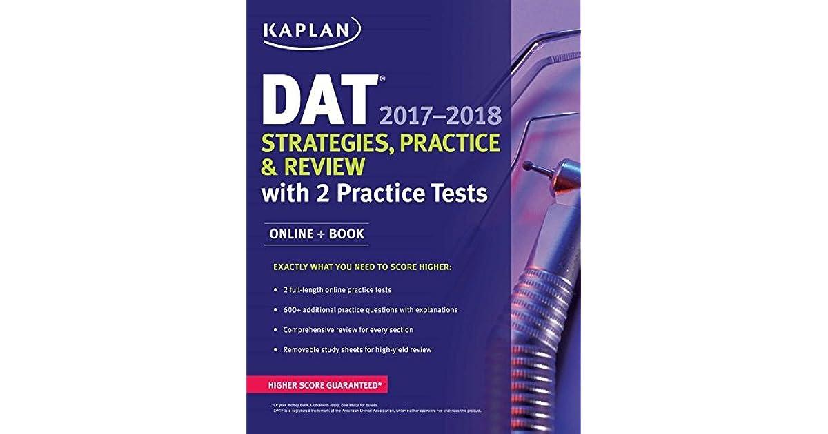 DAT 2017-2018 Strategies, Practice & Review with 2 Practice