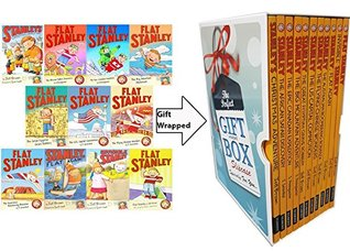 Flat Stanley Series Jeff Brown Collection 11 Books Bundle Gift Wrapped Slipcase Specially For You