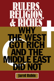 Rulers, Religion, and Riches Why the West Got Rich and the Middle East Did Not