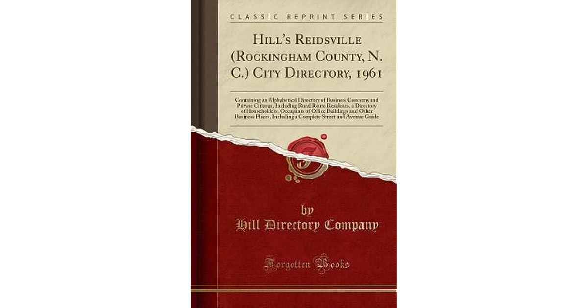 Hill's Reidsville (Rockingham County, N  C ) City Directory