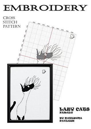 Hand embroidery design books to Download of Funny cat pictures and Black cats cross stitch patterns to Home canvas Wall art