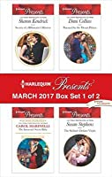 Harlequin Presents March 2017 - Box Set 1 of 2: Secrets of a Billionaire's Mistress / The Innocent's Secret Baby / Pursued by the Desert Prince / The Sicilian's Defiant Virgin