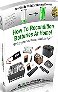 "EZ Battery Reconditioning - How To Recondition Batteries At Home ""Bring your batteries back to life"""