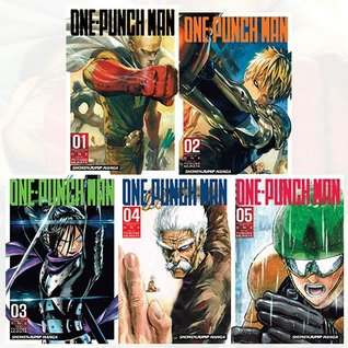 One-Punch Man Volume 1-5 Collection 5 Books Set (Series 1