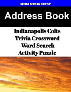 Address Book Indianapolis Colts Trivia Crossword & Wordsearch Activity Puzzle