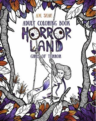 Adult Coloring Book Horror Land: Girls of Terror