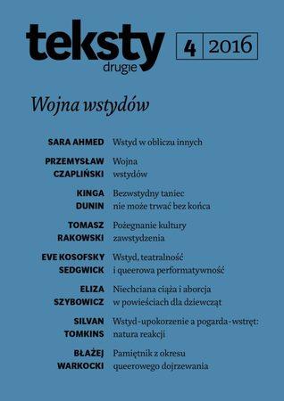 Teksty Drugie 2016 Nr 4 by Ryszard Nycz