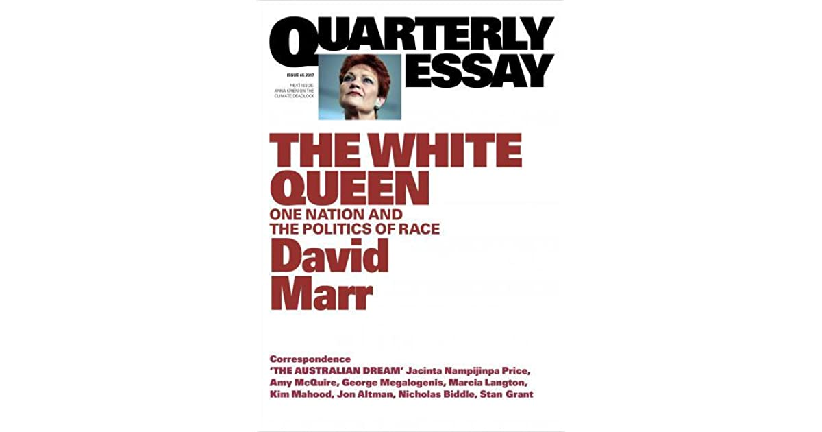 australian dream oral essay In a landmark essay, stan grant writes indigenous people back into the economic and multicultural history of australia quarterly essay 64 the australian dream.