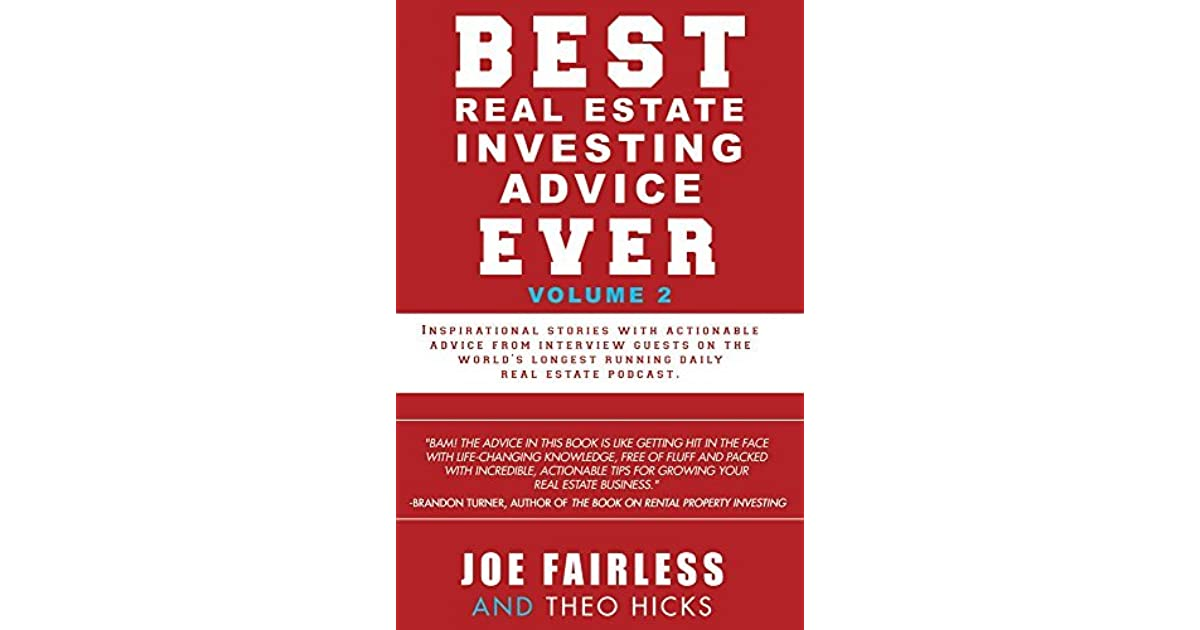 best ever estate investing advice ever volume 2 by joe fairless. Black Bedroom Furniture Sets. Home Design Ideas