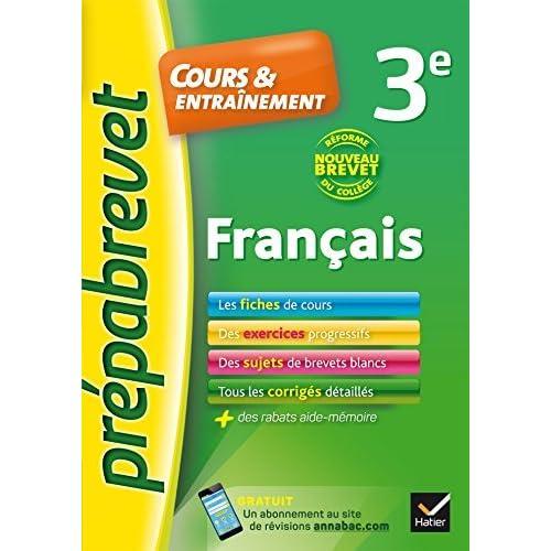 Francais 3e Nouveau Brevet Fiches De Cours Exercices Et Brevets Blancs By Christine Formond