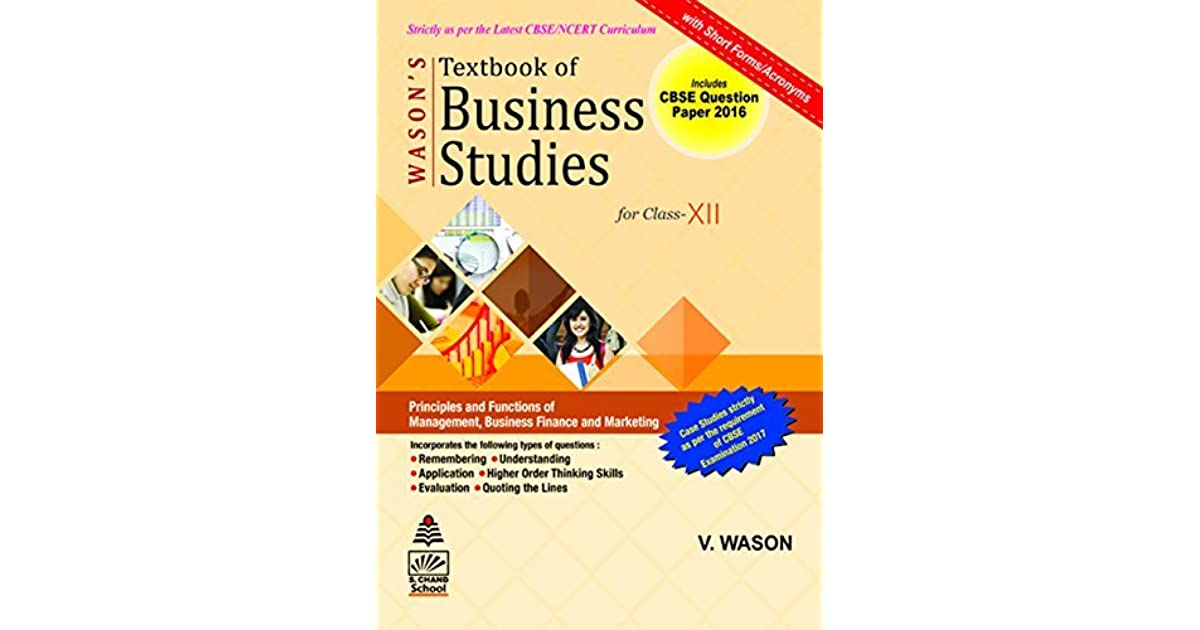 Business Studies Class 12 by V  Wason