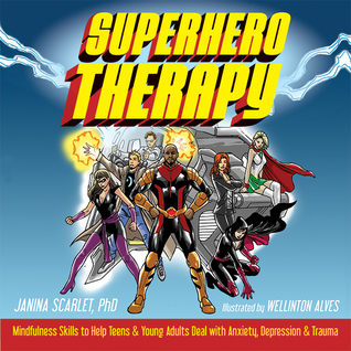 Superhero Therapy cover art with link to Goodreads description