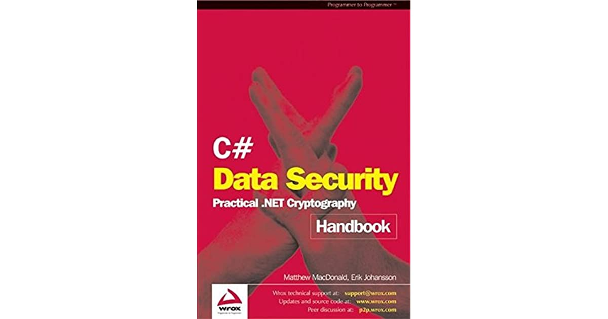C Data Security Handbook By Matthew MacDonald