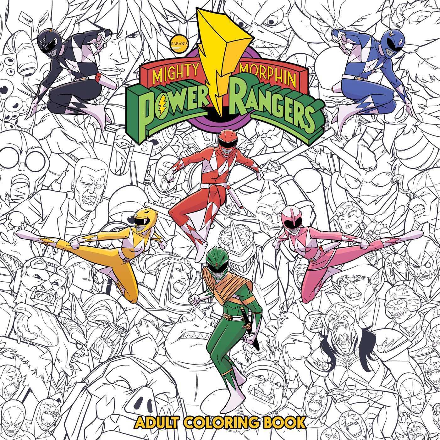Mighty Morphin Power Rangers Adult Coloring Book by Hendry Pratsetya