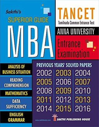 TANCET MBA SUPERIOR GUIDE (TANCET MBA Entrance Exam Preparation Guide)