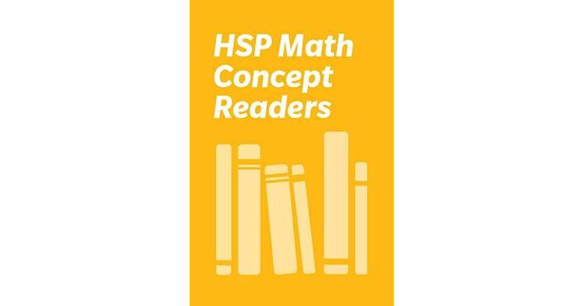 Harcourt School Publishers Math Below Level Reader