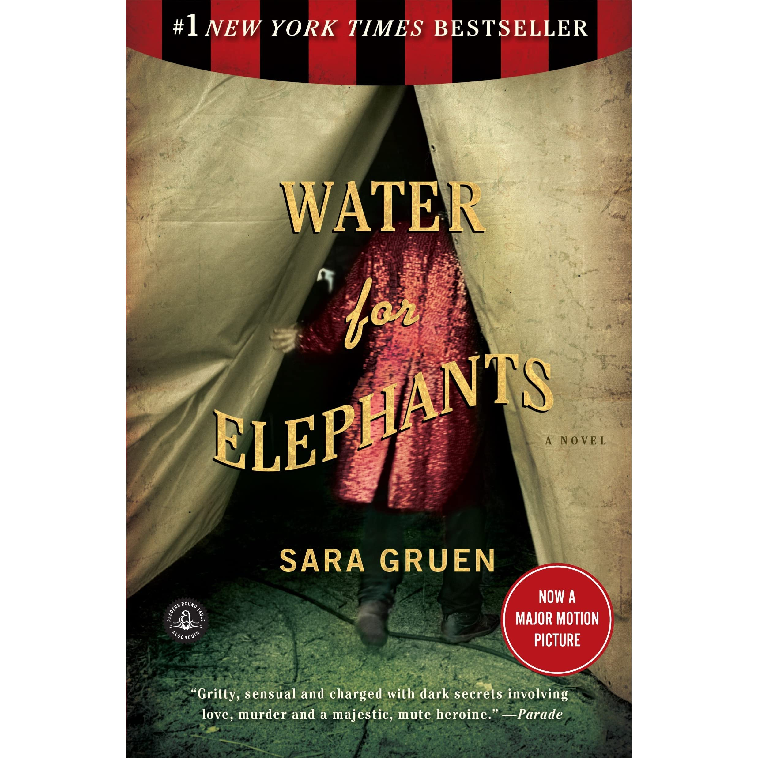 How To Make A Book Cover Look Old And Worn ~ Water for elephants by sara gruen