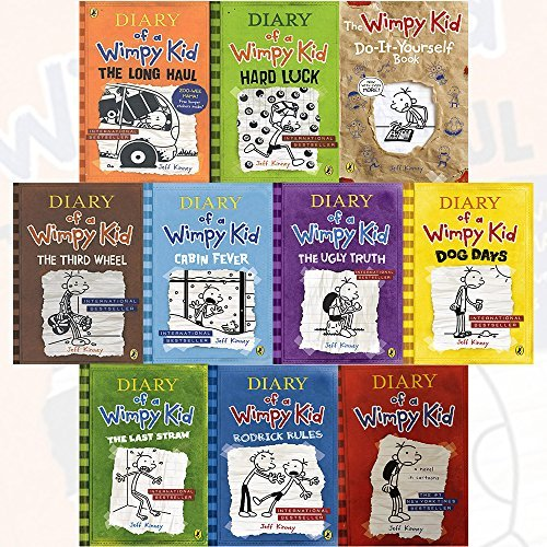 Diary Of A Wimpy Kid Collection 10 Books Bundle By Jeff Kinney Diary Of A Wimpy Kid Rodrick Rules The Last Straw Dog Days The Ugly Truth Cabin Fever The Third Wheel Hard Luck By Jeff Kinney